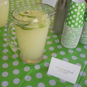 This margarita mocktail makes the perfect nonalcoholic punch for any shower or party!
