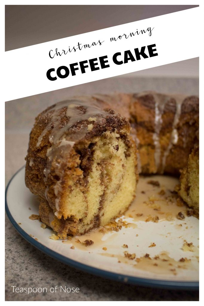 This Christmas morning coffee cake is one of my favorite Christmas traditions, and I make it every year, no matter where I am!   Teaspoon of Nose