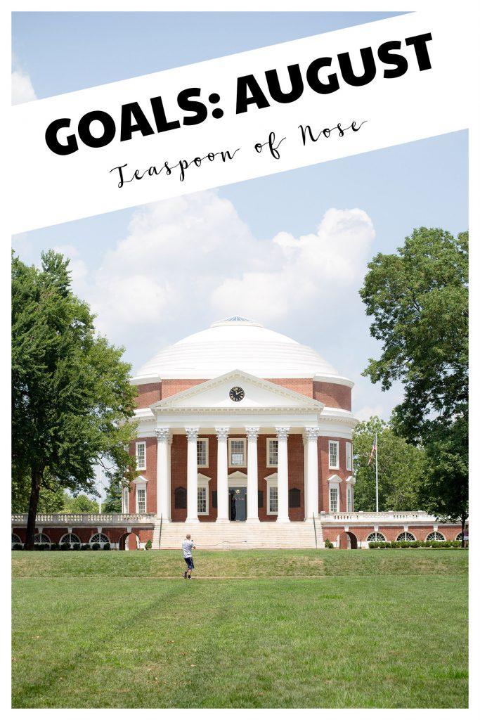 Goals August 2017 Charlottesville Virginia UVa Rotunda