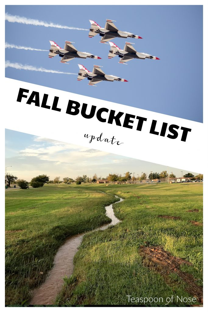 How's your fall bucket list going? | Teaspoon of Nose