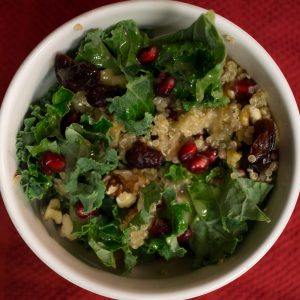 This kale and pomegranate salad is the perfect thing to start your new year on a healthy AND tasty note!   Teaspoon of Nose