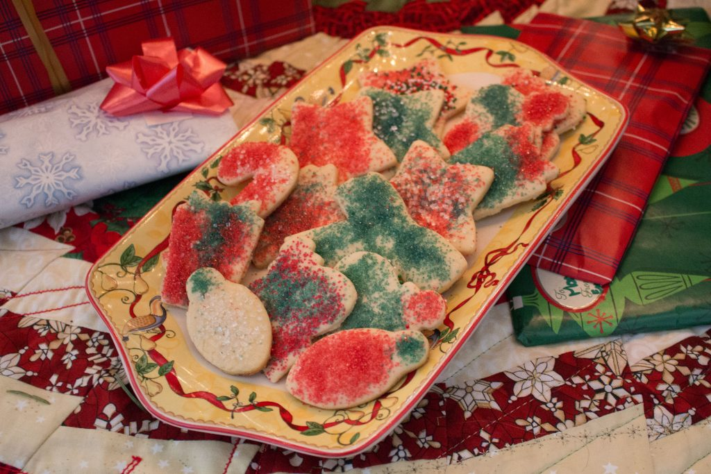 Whether you leave them out for Santa or eat them all yourself, these sugar cookies are the perfect Christmas cookies! | Teaspoon of Nose
