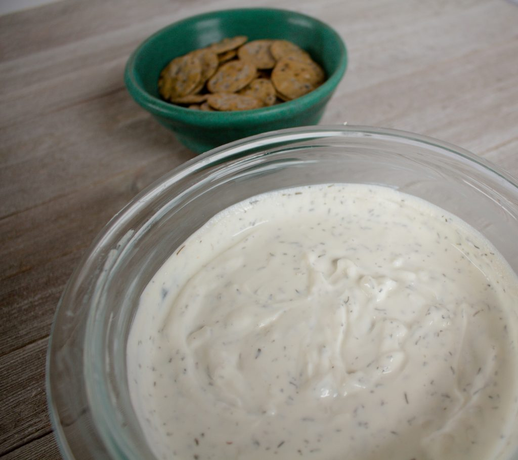 This savory Yogurt Dip is an easy appetizer that'll please any group!   Teaspoon of Nose