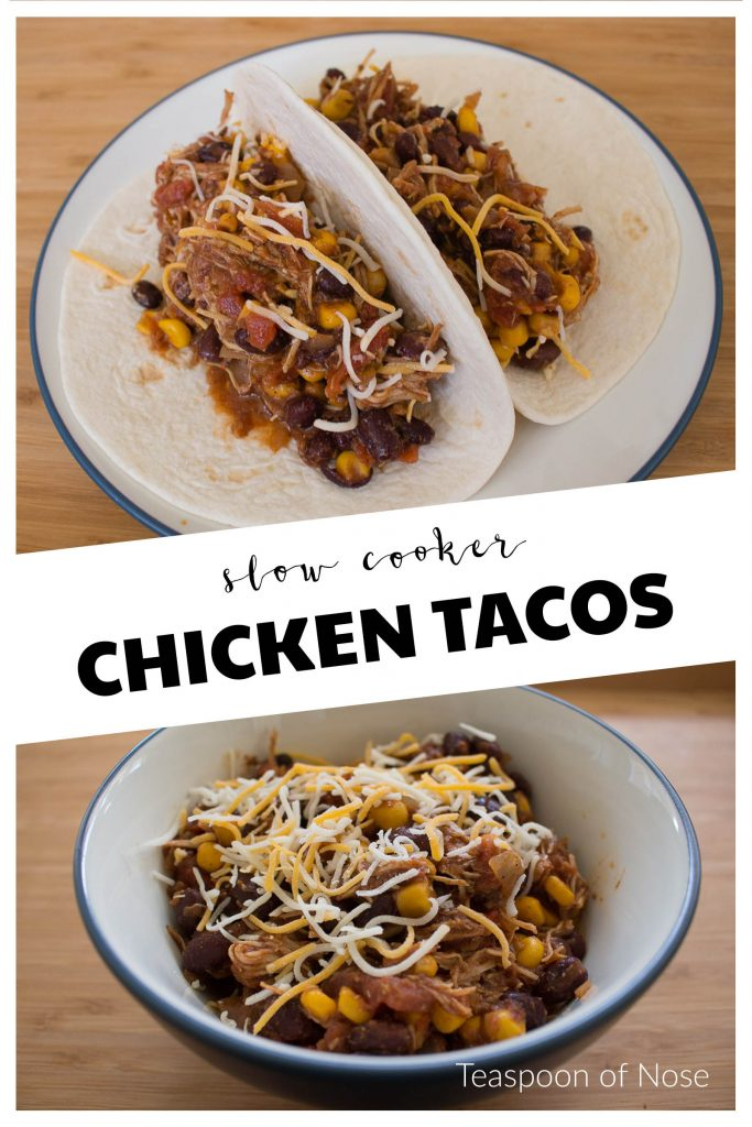 Can dinner get easier than slow cooker chicken tacos? | Teaspoon of Nose