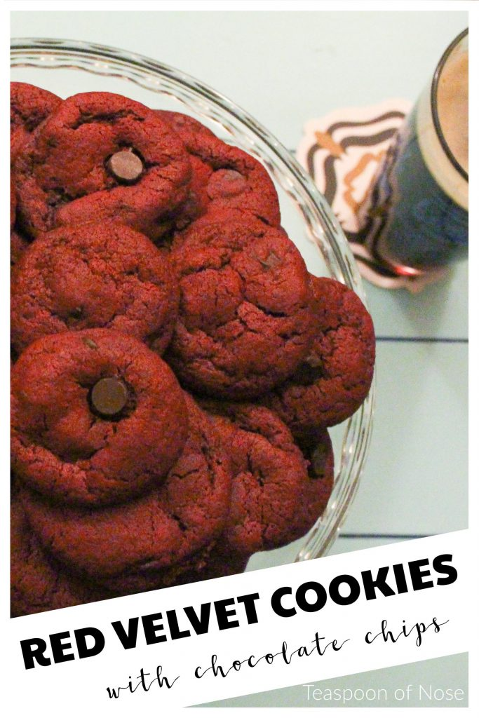 Red velvet chocolate chip cookies are decadent and one of the best desserts I've ever tasted!