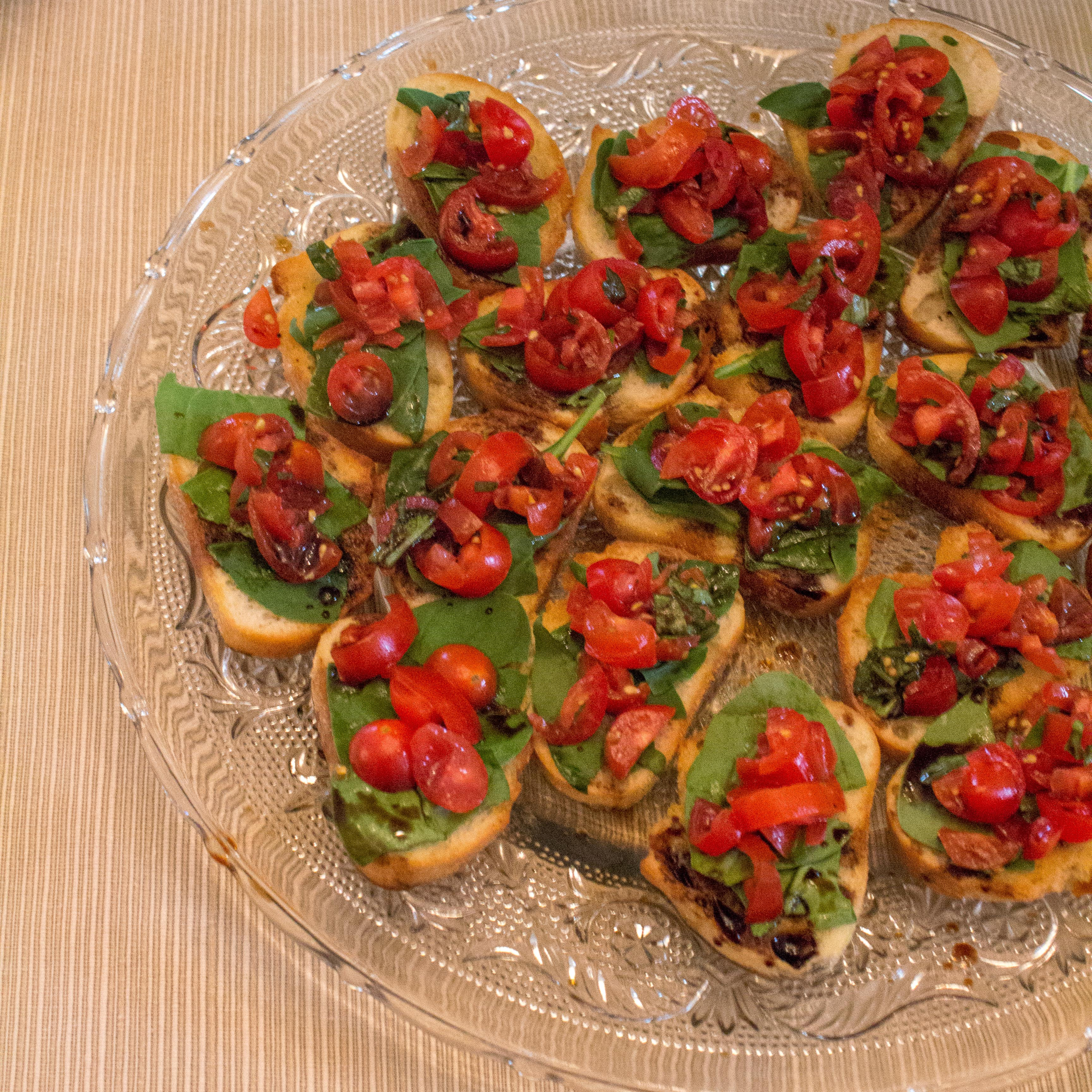 Bruschetta makes for a fresh summer appetizer, made even better by ingredients straight from the garden! | Teaspoon of Nose