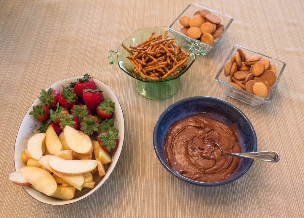 Nutella dip is perfect chocolate dip for summertime parties! | Teaspoon of Nose