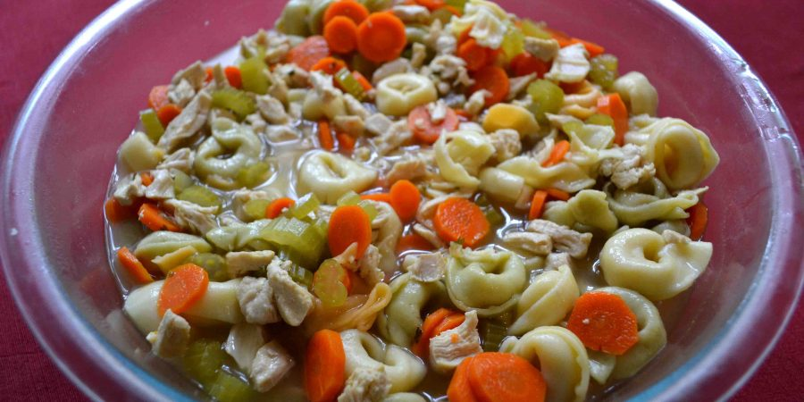 Tortellini chicken soup is a twist on a rainy day classic! | Teaspoon of Nose