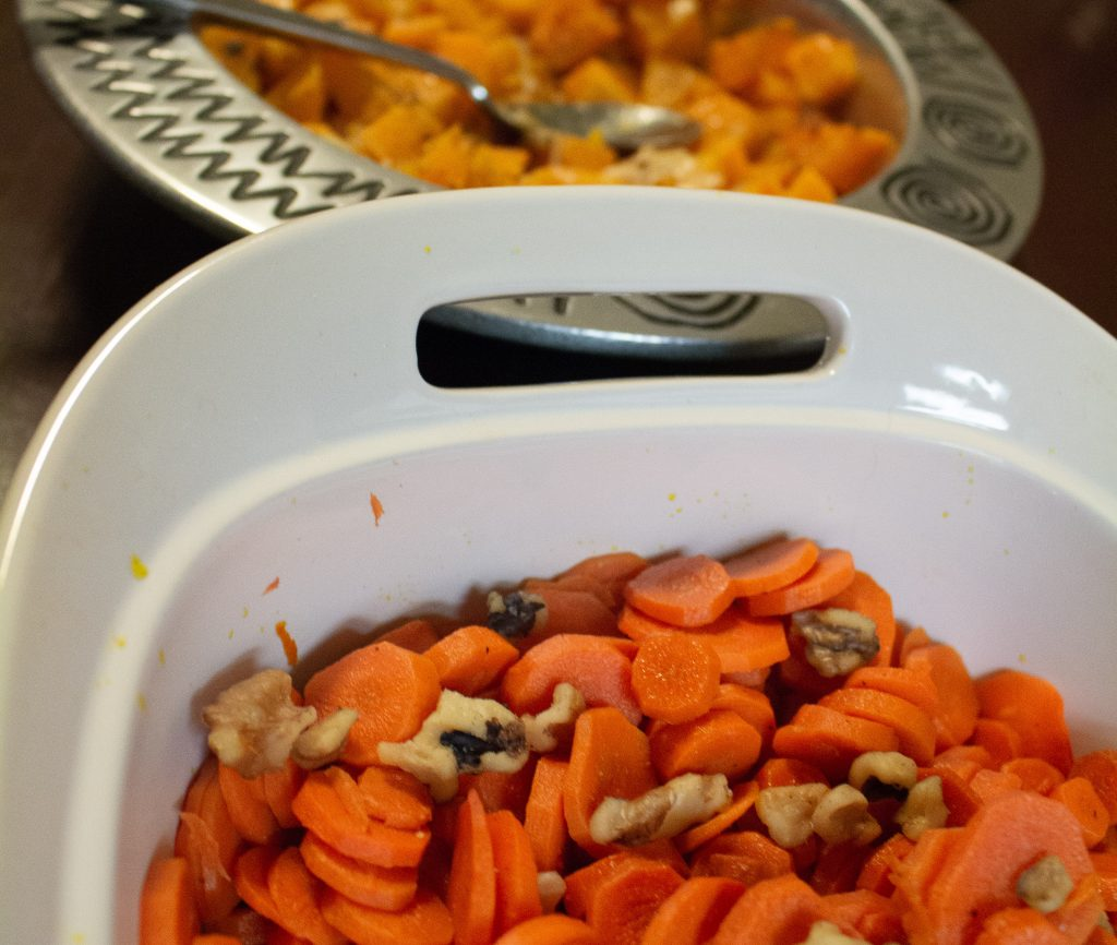 """These maple cider roasted carrots will break you out of that """"what's for dinner"""" rut, but are tasty enough to make it onto your holiday table! 