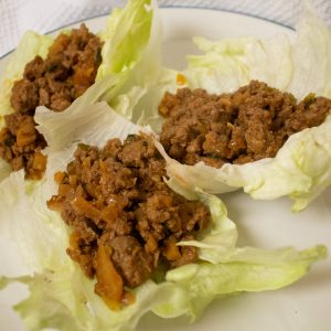 These Chinese chicken lettuce wraps are based on PF Chang's! They're easy to whip up but just as tasty!