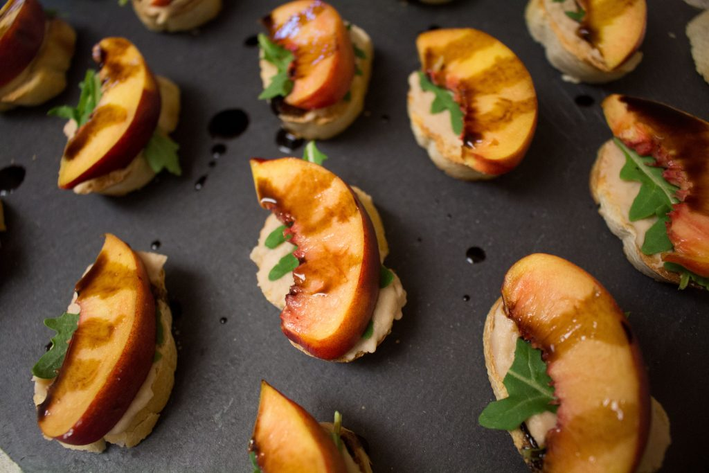 These nectarine crostini taste like spring: they're light and refreshing with a pop of sweet and a smokey finish!
