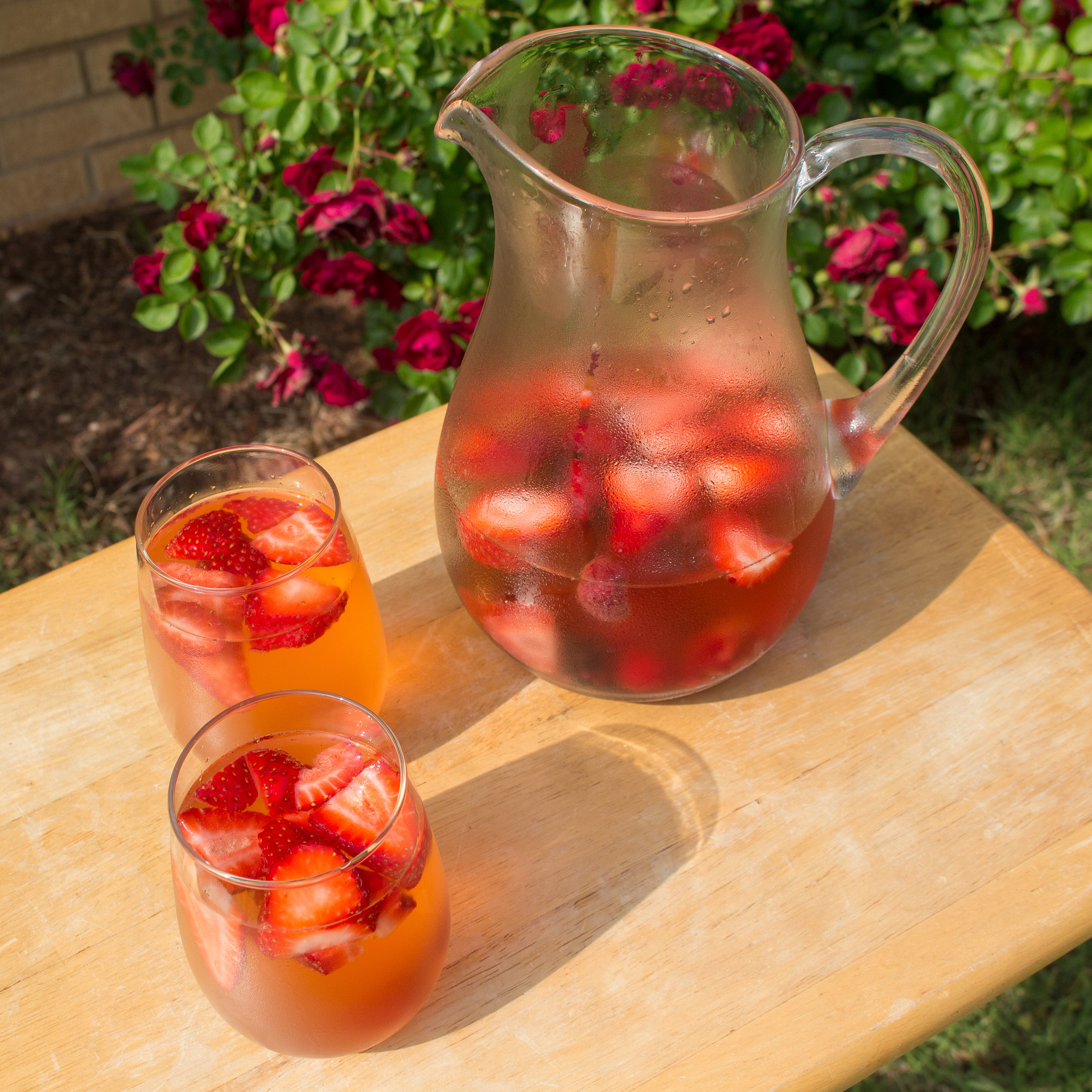 This Berry Infused White Sangria is the perfect drink for summer!