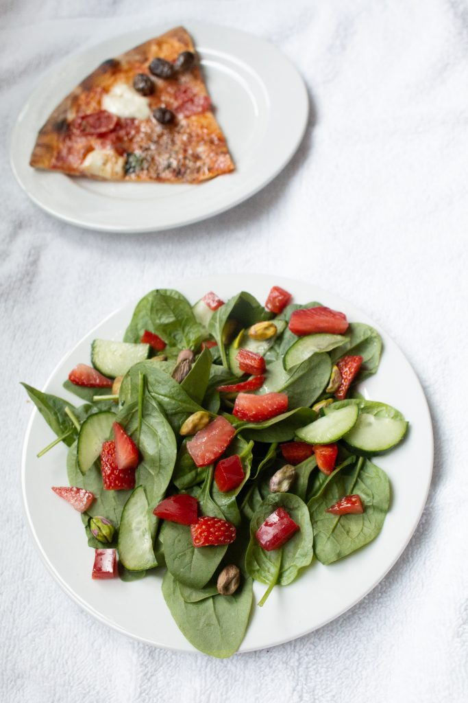 Strawberry Spinach Salad is the best thing you'll make all summer!