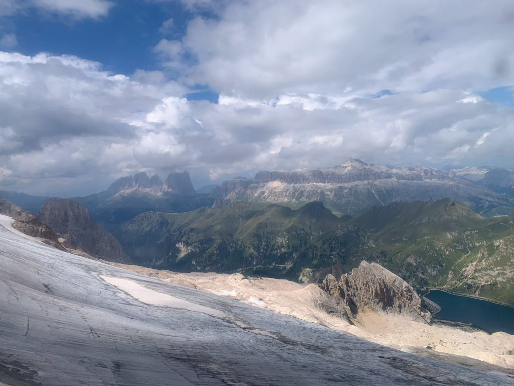 One of the best ways to experience the Dolomites year-round is take the cable car up Marmolada!