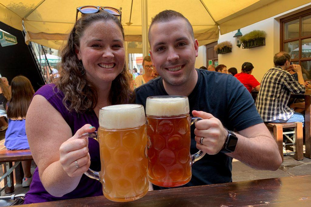 Day in vienna beer steins