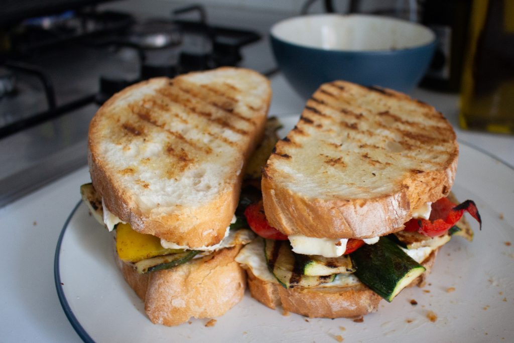 These grilled zucchini sandwiches give you the taste of summer in every bite and are a great vegetarian-friendly lunch option!