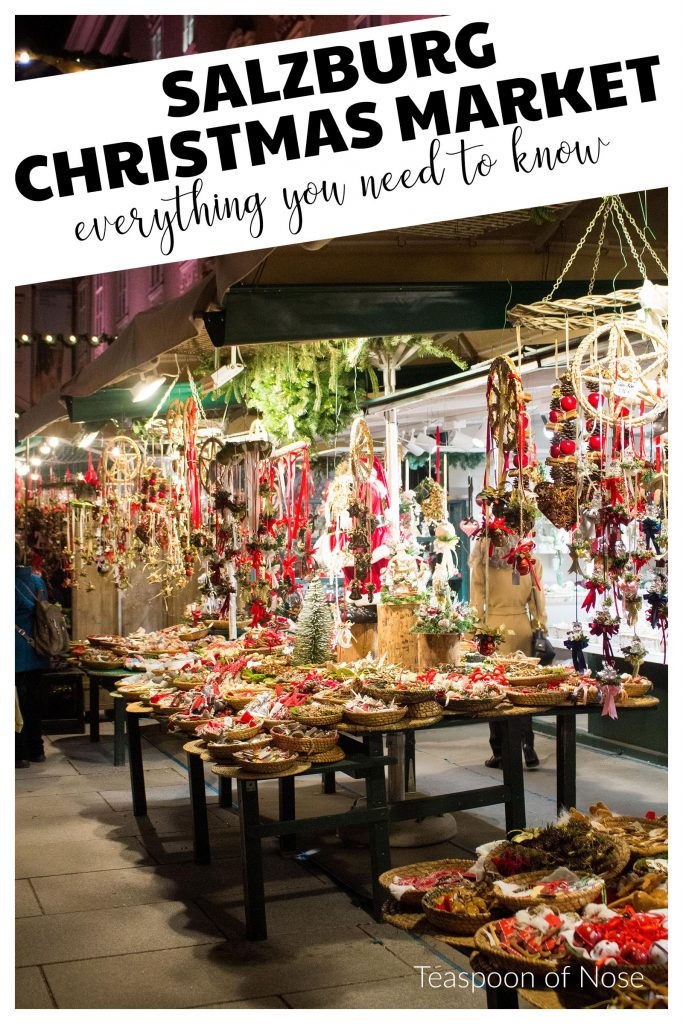 Salzburg Christmas market should definitely make your list of European Christmas markets worth exploring. From great food to gorgeous crafts, there's so much to see and try!