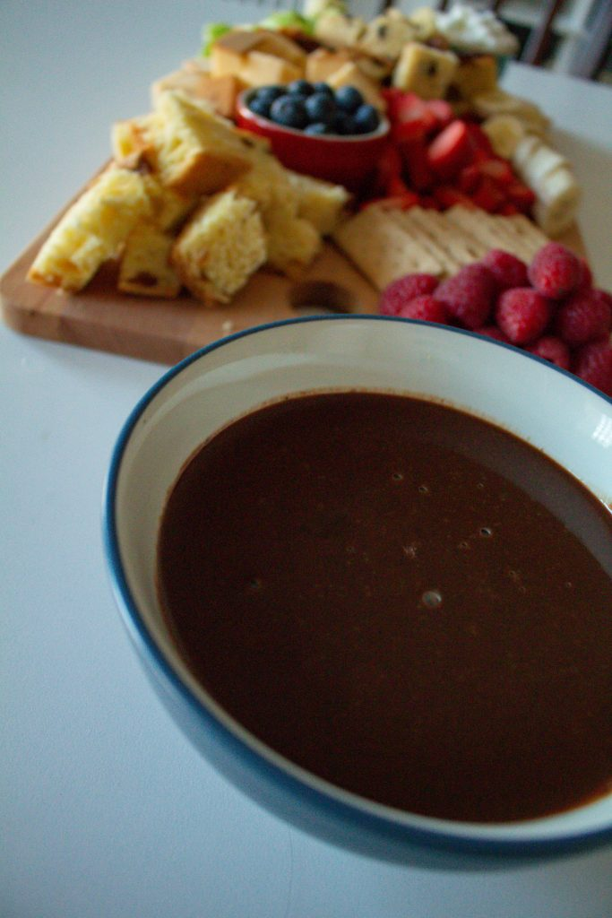 I mean really, is there anything better than chocolate fondue???