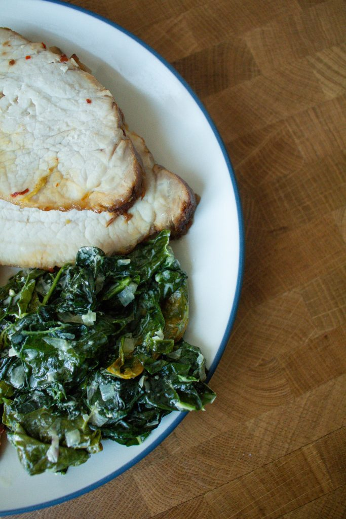 Creamed kale is the simple side dish you didn't know you were missing! Plus, it's a fantastic way to use up kale that's about to go bad.