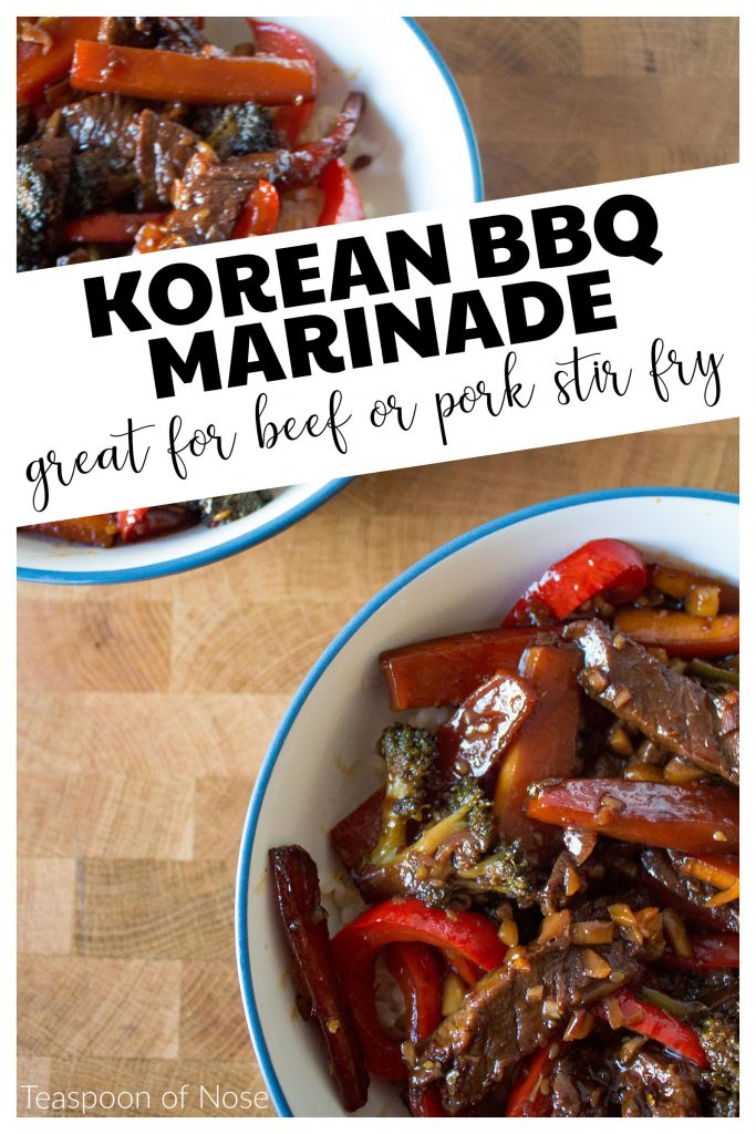 This Korean BBQ marinade is simple enough to make for a weeknight meal  and tastes just like takeout!