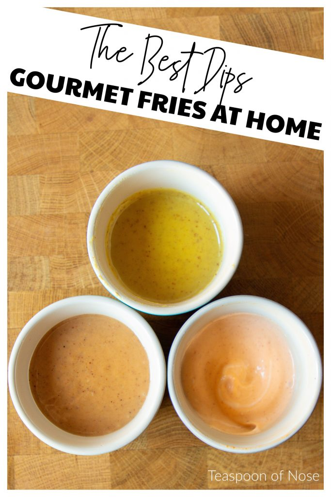Homemade fry dips are crazy easy and make fries even better! Today, I'm sharing quick recipes for sriracha mayo, honey mustard, and copycat Chick-fil-A sauce - once you try them, you won't eat fries without them!