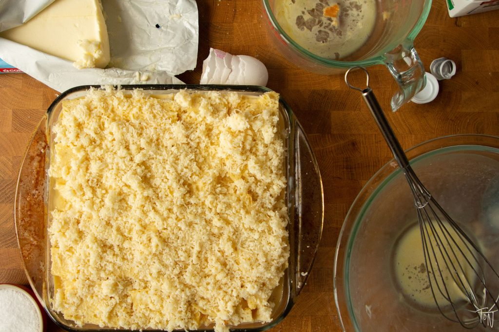 Cheese strata makes a great breakfast option for holidays when you've got a house full of people or hosting an at-home brunch!