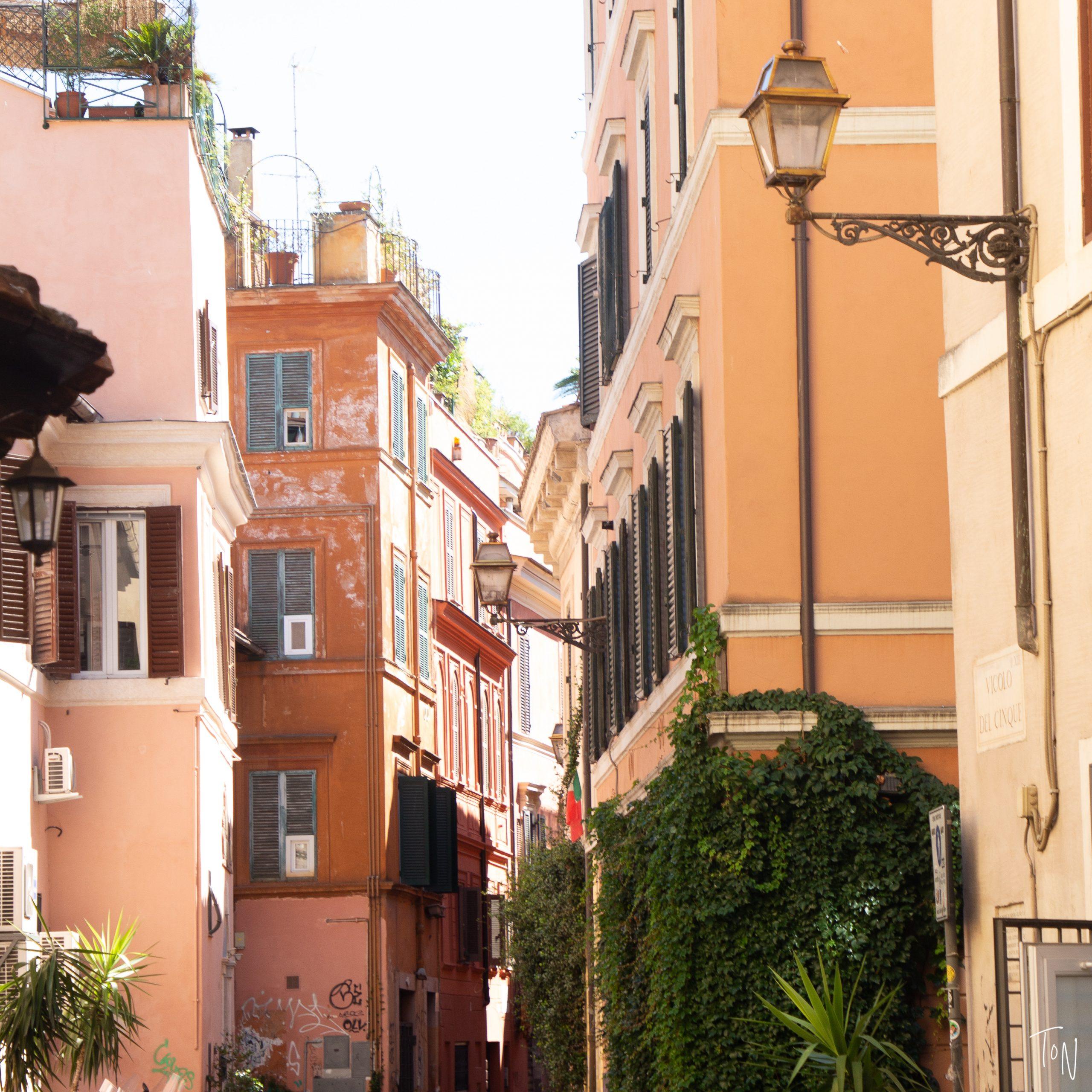 Rome's trastevere neighborhood