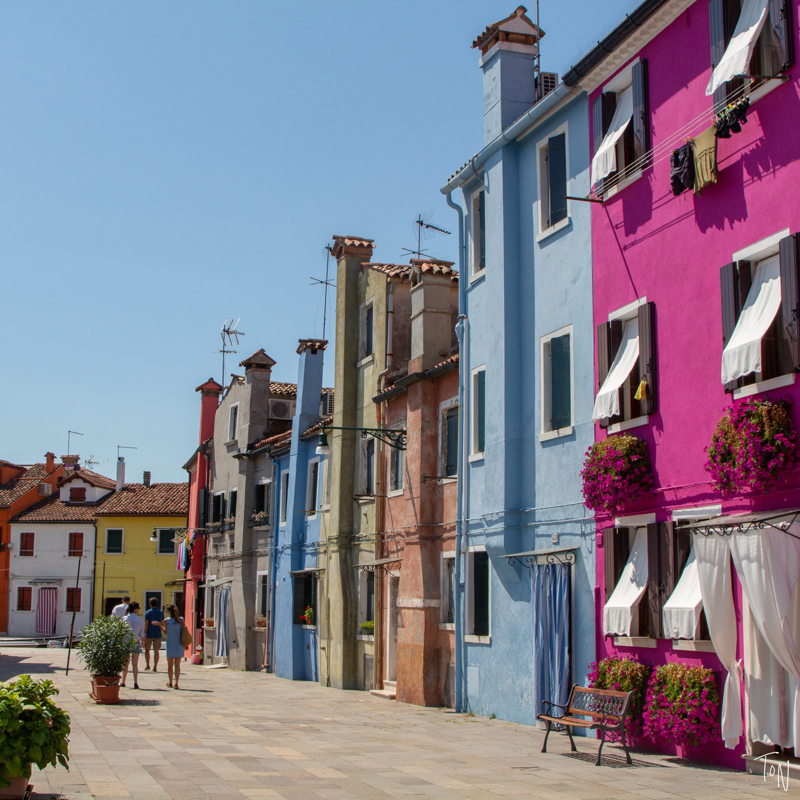 Burano Island in Venice, known for lace and colorful houses
