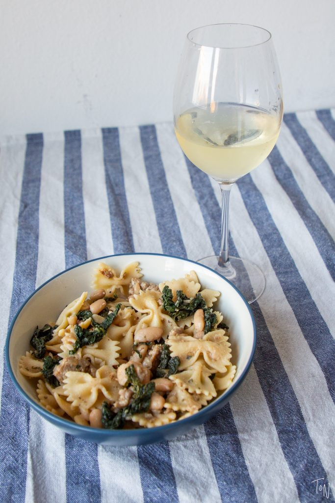 Kale sausage pasta hits that perfect category of comfort food that's good for you!