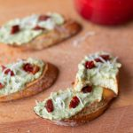 These creamy pesto and tomato crostini will give you the brightness of summer even in the middle of winter!
