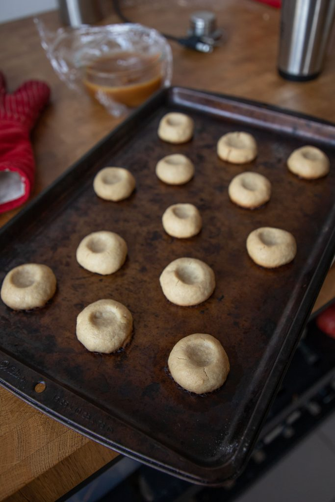 Caramel thumbprint cookies will become your go-to dessert when you're craving something sweet!