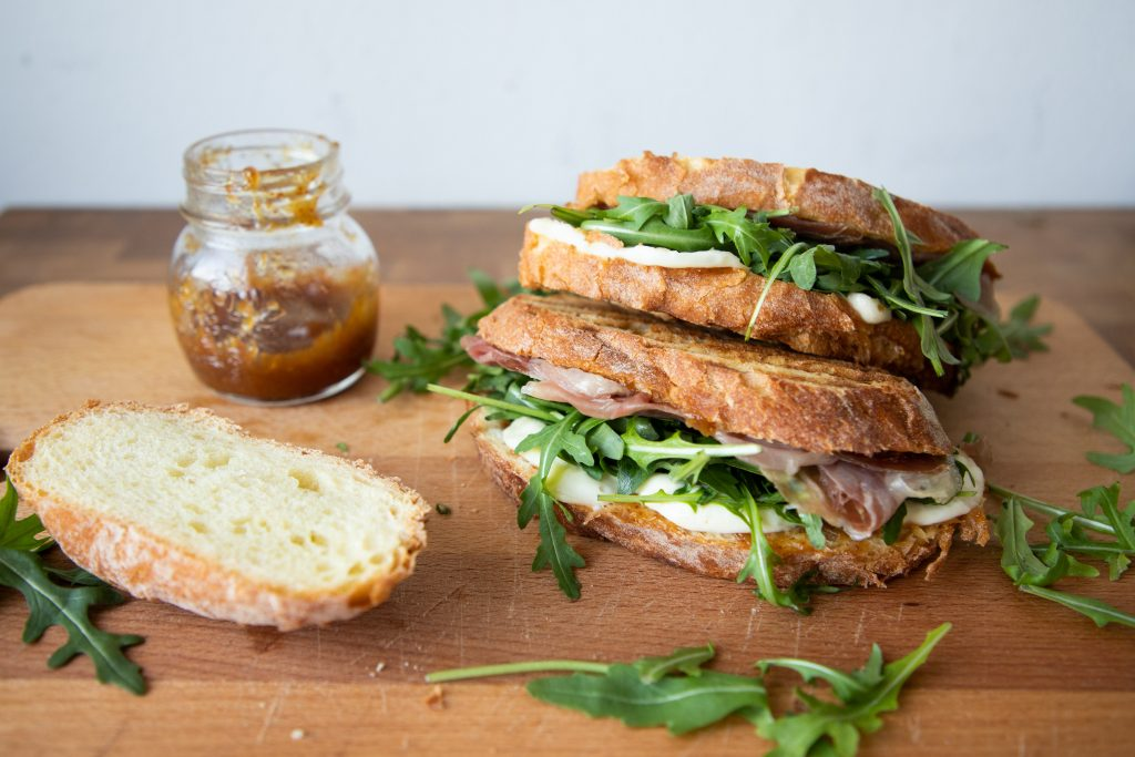 These prosciutto and mozzarella panini have a secret ingredient that ramp them up a notch to be the best sandwich you've ever tried!   Teaspoon of Nose