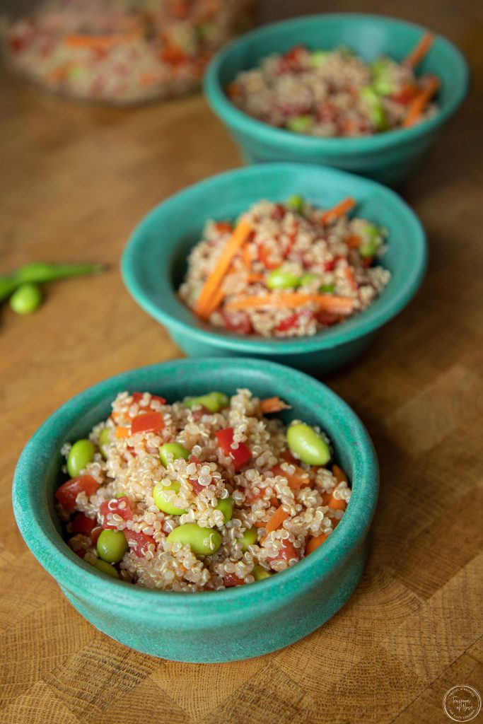 Now that we're all getting outside, seeing people, and jumping into summer, it's time for quinoa and edamame salad!   Teaspoon of Nose