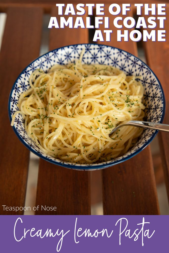 Creamy lemon pasta with transport you to the Amalfi Coast in a bite! Best of all, you can have dinner on the table in 15 minutes!