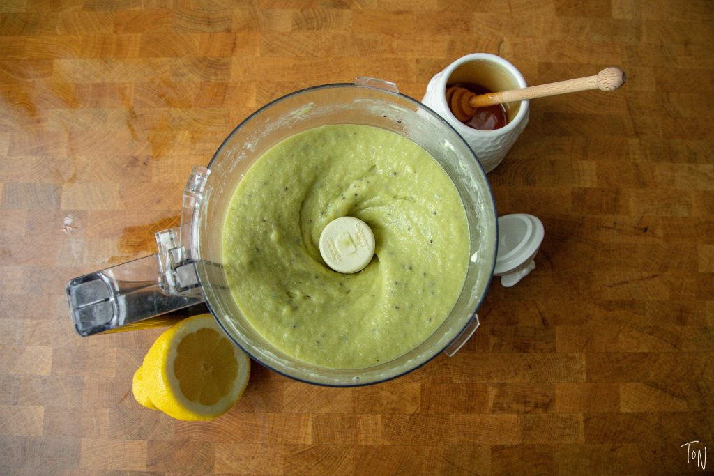 Kiwi sorbet is so ridiculously easy to make - all you need is a food processor, 10 minutes of prep and an hour of freezing time! | Teaspoon of Nose